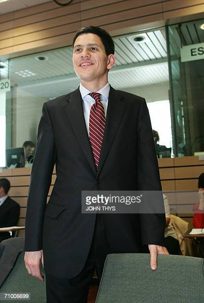 Secretary for Environment Food and Rural Affairs David Miliband poses for a picture prior to the start of agriculture and fisheries council meeting...