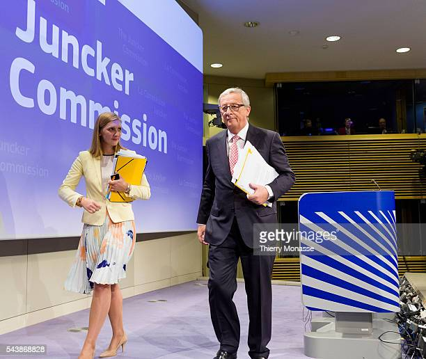 Brussels Belgium September 10 2014 Elected President of the European Commission JeanClaude JUNCKER announce the attribution of portfolios of European...