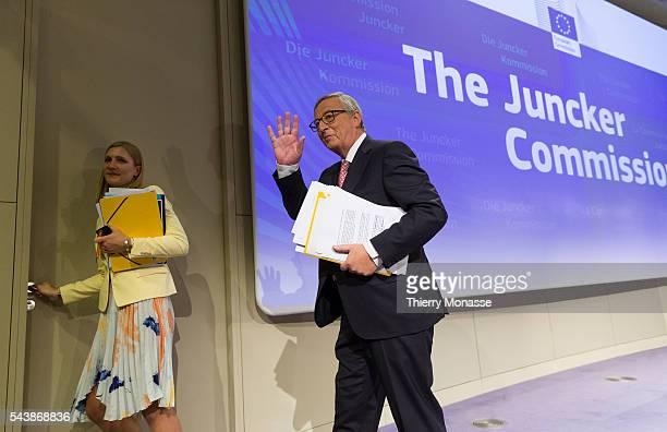 Brussels Belgium September 10 2014 Elected President of the European Commission JeanClaude JUNCKER announce the attribution of portfolios of European...