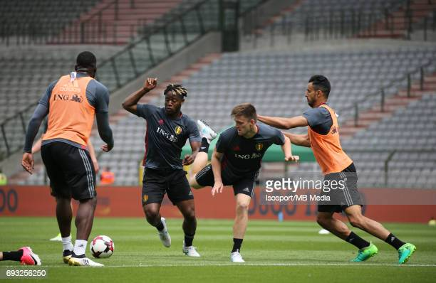 20170603 Brussels Belgium / Training and Family Day Red Devils /'nMichy BATSHUAYI Thomas FOKET Nacer CHADLI'nPicture Vincent Van Doornick / Isosport