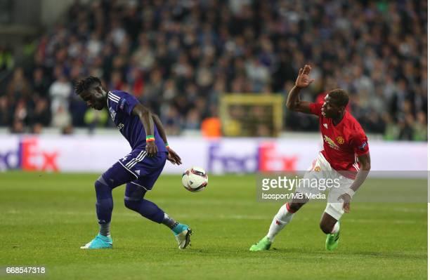 Rsc Anderlecht vs Manchester United / 'nKara MBODJI Paul POGBA'nFootball Uefa Europa League 2016 2017 QuarterFinal 1st leg / Constant Vanden Stock...