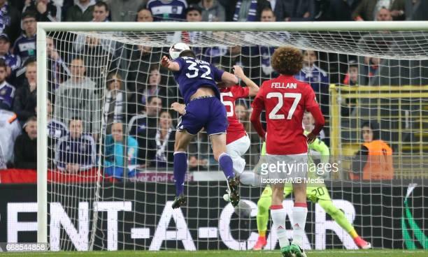 Rsc Anderlecht vs Manchester United / 'nLeander DENDONCKER Goal'nFootball Uefa Europa League 2016 2017 QuarterFinal 1st leg / Constant Vanden Stock...