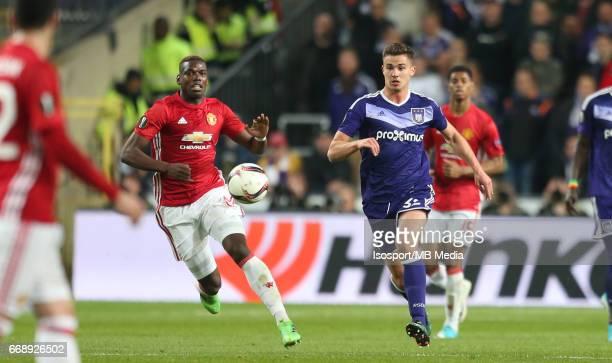 Rsc Anderlecht vs Manchester United / 'nPaul POGBA Leander DENDONCKER'nFootball Uefa Europa League 2016 2017 QuarterFinal 1st leg / Constant Vanden...