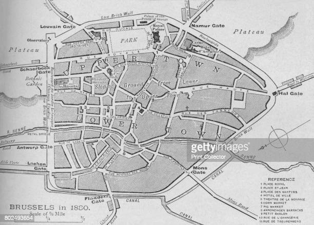 Brussels in 1830 Plan' 1902 The Belgian Revolution From Battles of the Nineteenth Century Vol II [Cassell and Company Limited London Paris New York...