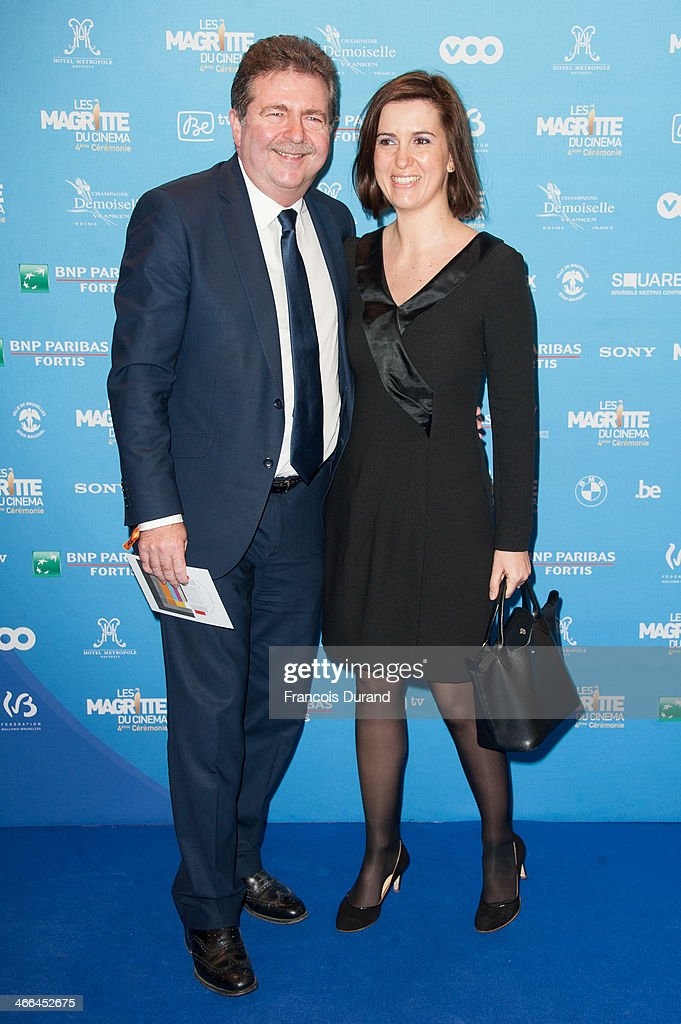 Brussels region Minister-President Rudi Vervoort and guest attend 'Les Magritte Du Cinema 2014' at Square Brussels on February 1, 2014 in Brussel, Belgium.