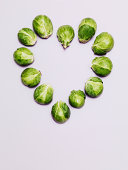 Brussels sprouts form heart shape