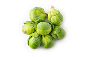Isolated studio photo o brussels sprouts.