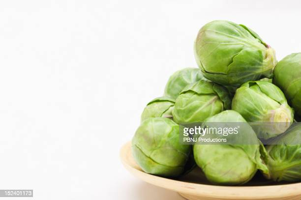 Brussels sprouts on plate