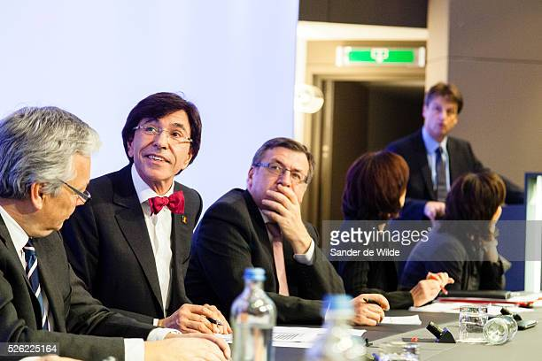 Brussels Tuesday 20 november 2012 left to VicePrime Minister and Foreign Minister Didier Reynders Belgian Prime Minister Elio Di Rupo VicePrime...