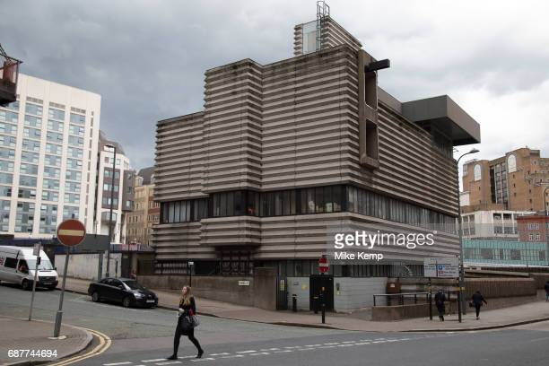 Brutalist concrete architecture of New Street Station Signal Box in Birmingham United Kingdom New Street Stationhas been at the centre of public...