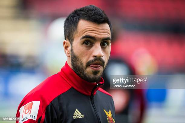 Brwa Nouri of Ostersunds FK during the Allsvenskan match between Ostersunds FK and IFK Norrkoping at Jamtkraft Arena on April 9 2017 in Ostersund...
