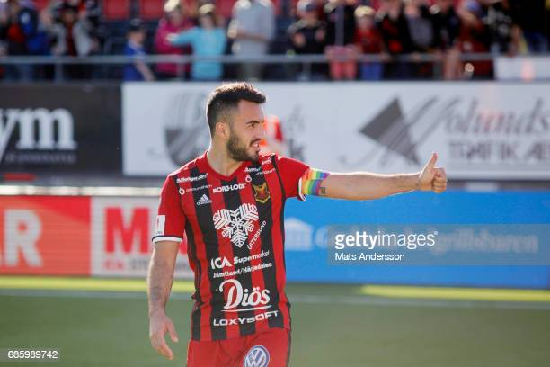 Brwa Nouri of Ostersunds FK during the Allsvenskan match between Ostersunds FK and Kalmar FF at Jamtkraft Arena on May 20 2017 in Ostersund Sweden