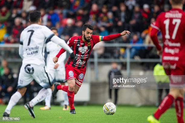 Brwa Nouri of Ostersunds FK during the Allsvenskan match between Ostersunds FK and BK Hacken at Jamtkraft Arena on October 1 2017 in Ostersund Sweden