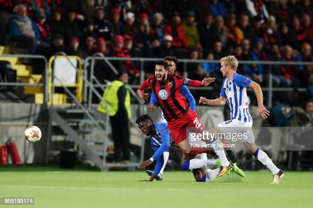 Brwa Nouri of Ostersunds FK during the UEFA Europa League group J match between Ostersunds FK and Hertha BSC at Jamtkraft Arena on September 28 2017...