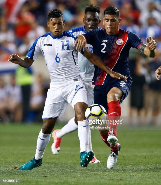 Bryan Acosta of Honduras fights for the ball with Johnny Acosta of Costa Rica during their CONCACAF Gold Cup match at Red Bull Arena on July 7 2017...