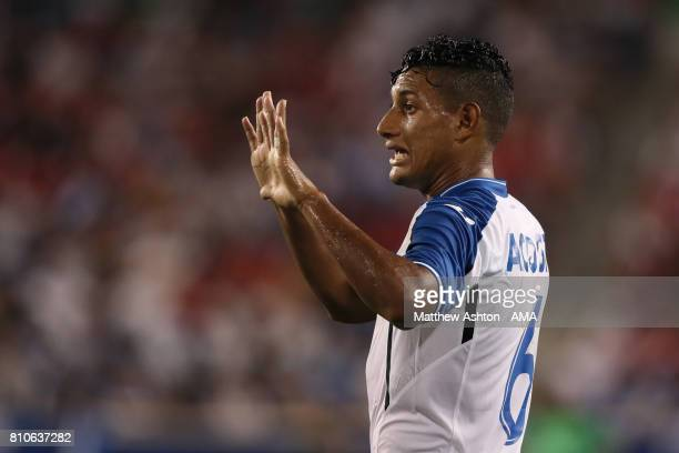 Bryan Acosta of Honduras looks on during the 2017 CONCACAF Gold Cup Group A match between Honduras and Costa Rica at Red Bull Arena on July 7 2017 in...