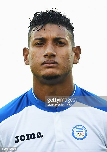 Bryan Acosta of Honduras looks on during the Olympic Men's Football match between Honduras and Algeria at Olympic Stadium on August 4 2016 in Rio de...