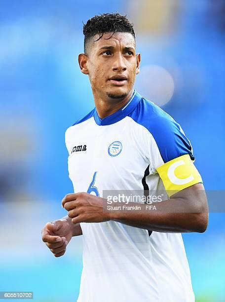 Bryan Acosta of Honduras runs during the Olympic Men's Football match between Honduras and Algeria at Olympic Stadium on August 4 2016 in Rio de...