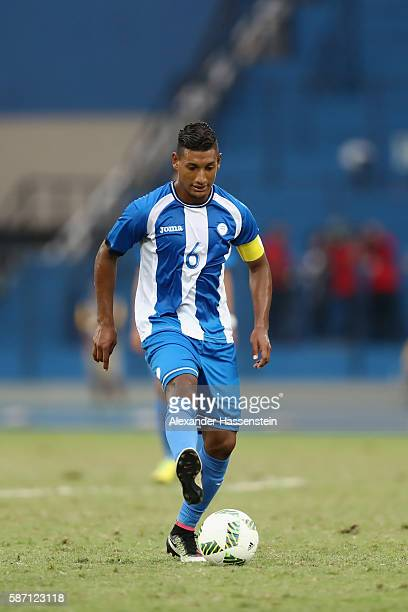 Bryan Acosta of Honduras runs with trhe ball during the Men's Group D first round match between Honduras and Portugal during the Rio 2016 Olympic...