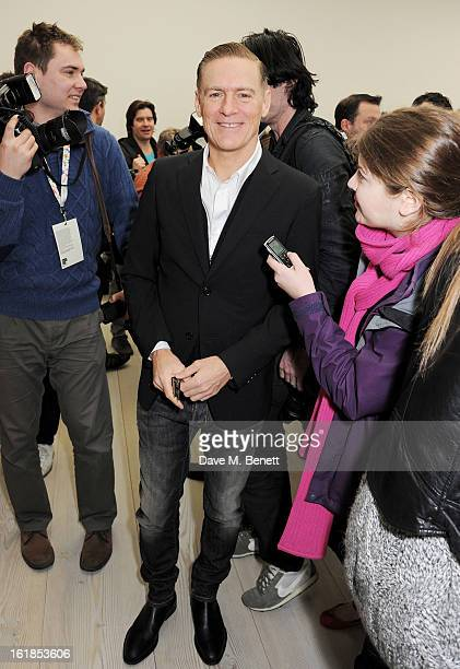 Bryan Adams attends the Vivienne Westwood Red Label show during London Fashion Week Fall/Winter 2013/14 at the Saatchi Gallery on February 17 2013 in...