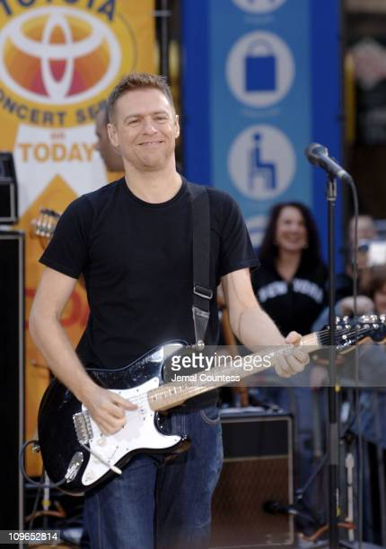 Bryan Adams during Bryan Adams Performs on 'The Today Show' Summer Concert Series May 27 2005 at NBC Studios Rockefeller Center in New York City New...