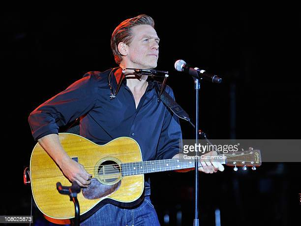 Bryan Adams performs onstage during 'A Concert For Killing Cancer' at Hammersmith Apollo on January 13 2011 in London England
