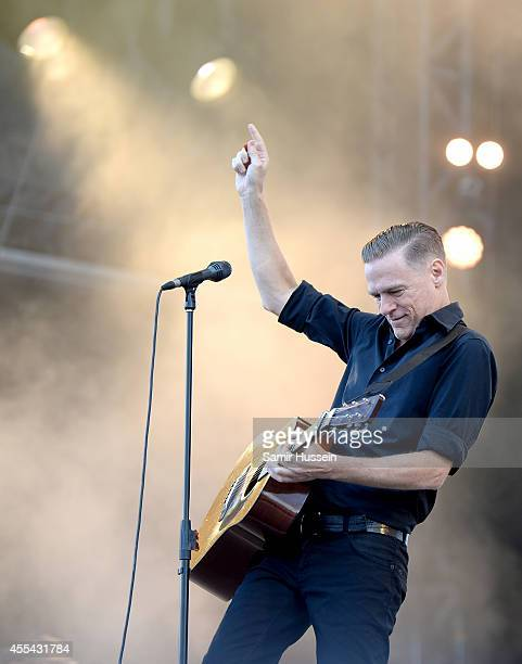 Bryan Adams performs onstage during the Invictus Games Closing Concert at the Queen Elizabeth Olympic Park on September 14 2014 in London England