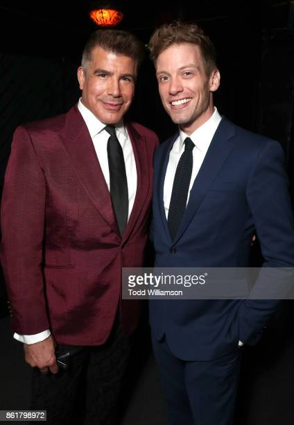 Bryan Batt and Barrett Foa attend National Breast Cancer Coalition Fund's 17th Annual Les Girls Cabaret at Avalon Hollywood on October 15 2017 in Los...