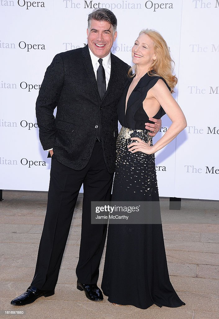 Bryan Batt and Patricia Clarkson attend the Metropolitan Opera Season Opening Production Of 'Eugene Onegin' at The Metropolitan Opera House on September 23, 2013 in New York City.