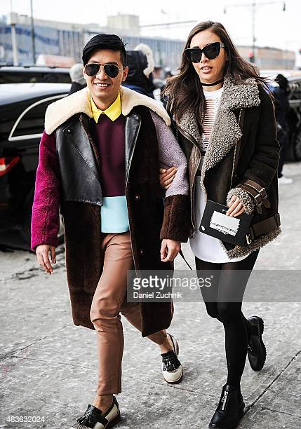 Bryan Boy and Rumi Neely are seen outside the 31 Phillip Lim show on February 16 2015 in New York City