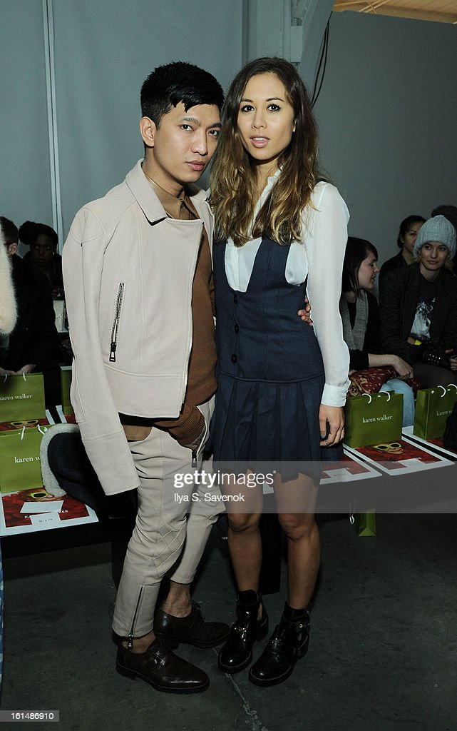 Bryan Boy and Rumi Neely attend the Karen Walker fall 2013 fashion show during Mercedes-Benz FAshion Week at Pier 59 on February 11, 2013 in New York City.