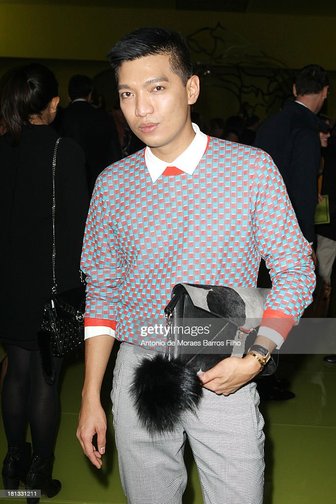 Bryan Boy attends the Versace show as a part of Milan Fashion Week Womenswear Spring/Summer 2014 on September 20, 2013 in Milan, Italy.
