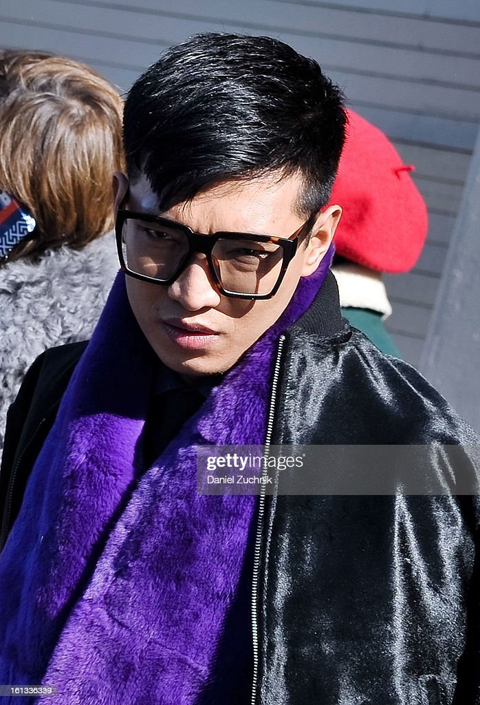 Bryan Boy is seen outside the Prabal Gurung show on February 9, 2013 in New York City.