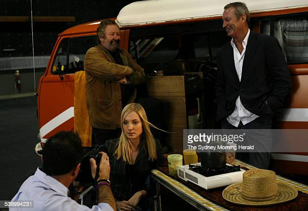 Bryan Brown John Woods and Joanne Froggatt at the media conference to introduce the cast in To Catch a Killer The Joanne Lees story 23 August 2006...