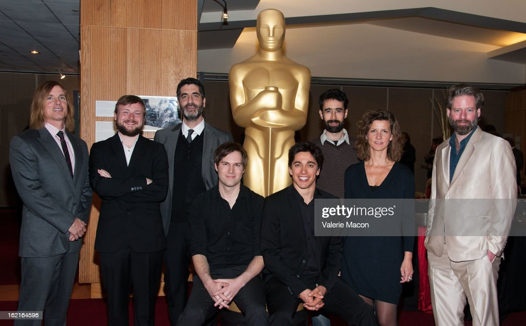 Bryan Buckley, Tom Van Avermaet, Mino Jarjoura, Shawn Christensen, Yan England, Ariel Nasr, Ellen De Waele and Sam French attend The Academy Of Motion Picture Arts And Sciences Presents Oscar Celebrates: Shorts at AMPAS Samuel Goldwyn Theater on February 19, 2013 in Beverly Hills, California.