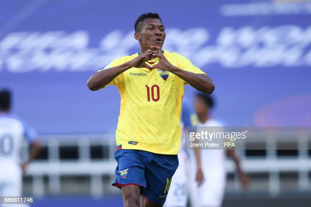 Bryan Cabezas of Ecuador celebrates after scoring his team's second goal during the FIFA U20 World Cup Korea Republic 2017 group F match between...