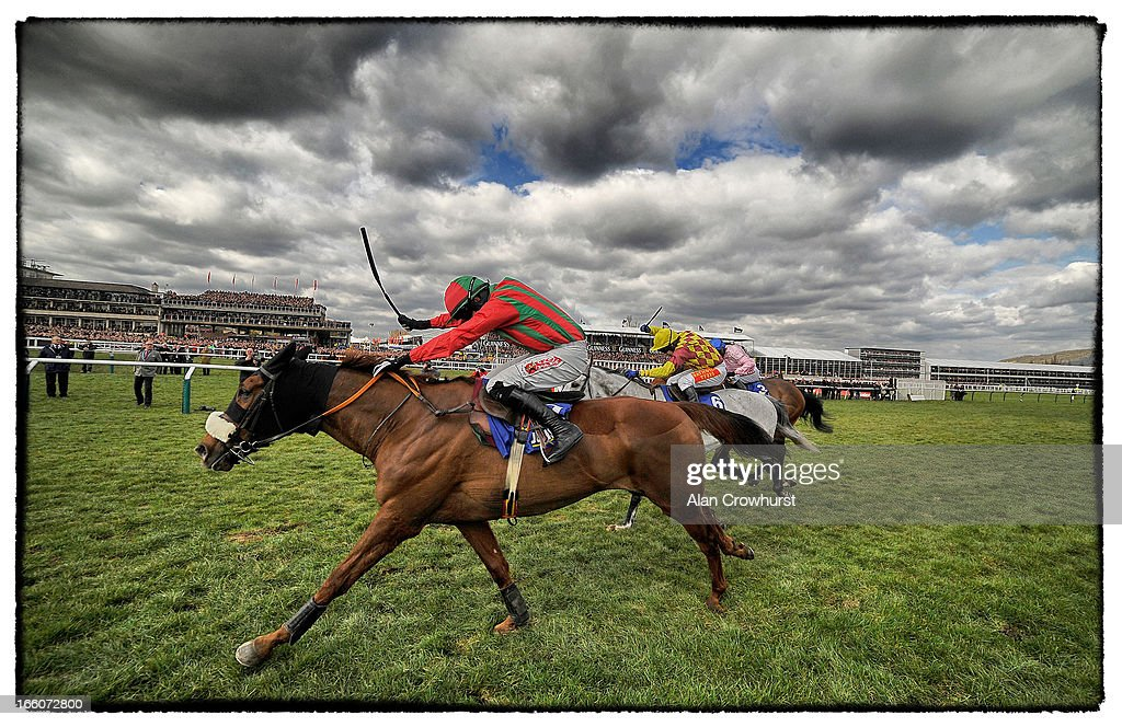 <a gi-track='captionPersonalityLinkClicked' href=/galleries/search?phrase=Bryan+Cooper+-+Jockey&family=editorial&specificpeople=15304641 ng-click='$event.stopPropagation()'>Bryan Cooper</a> riding Benefficient (L) clear the last to win The Jewson Novices' Steeple Chase from Dynaste (C) during St Patrick's Thursday at Cheltenham racecourse on March 14, 2013 in Cheltenham, England.