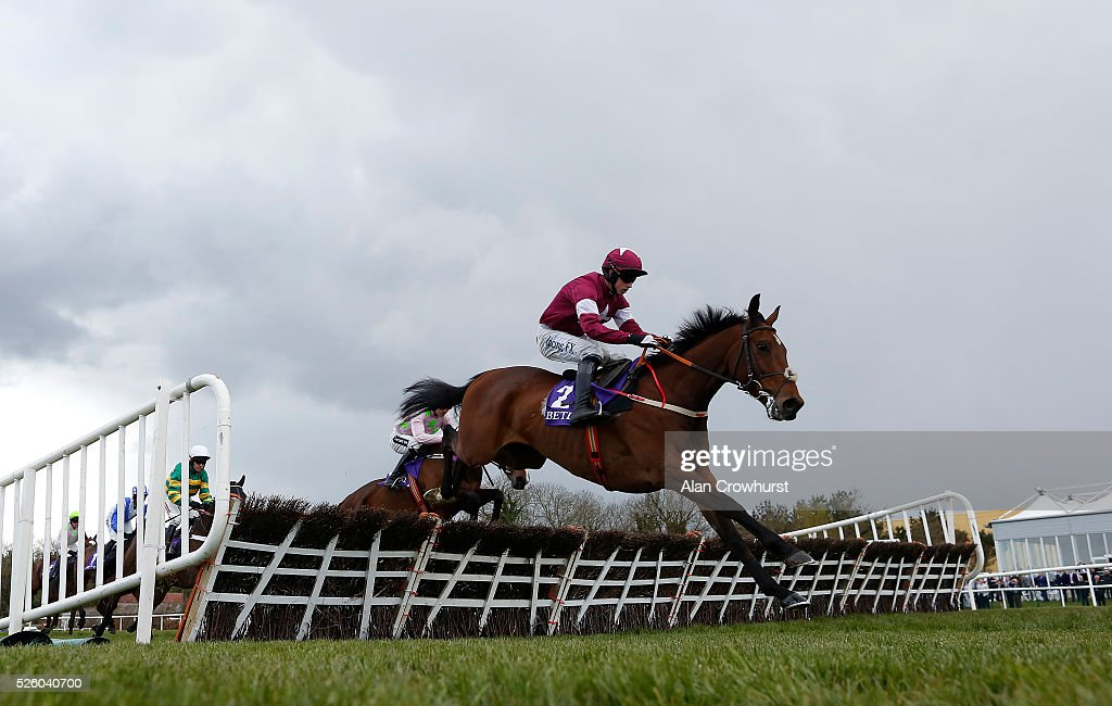Bryan Cooper riding Identity Thief in action at Punchestown racecourse on April 29, 2016 in Naas, Ireland.