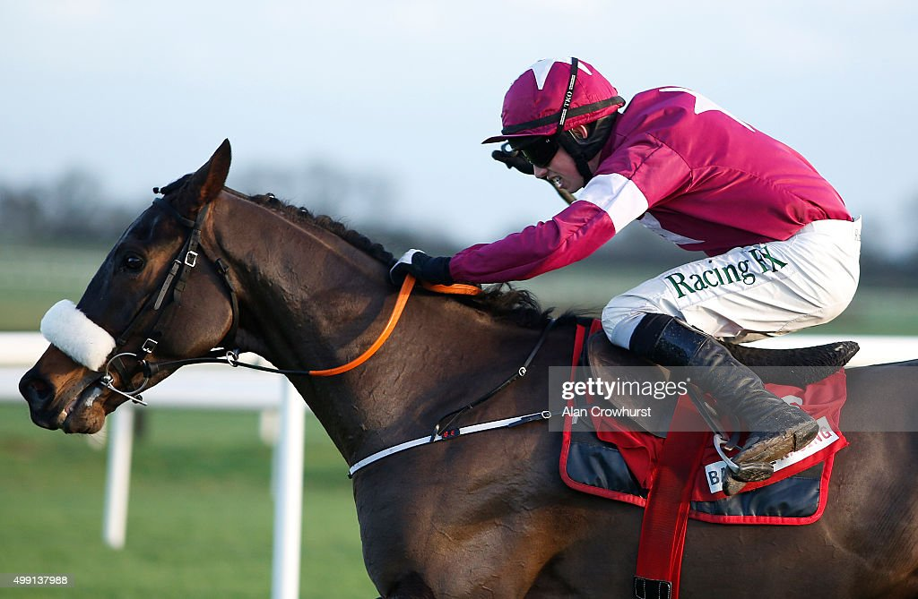 Bryan Cooper riding No More Heroes clear the last to win The Bar One Racing Drinmore Novice Steeple Chase at Fairyhouse racecourse on November 29, 2015 in Ratoath, Ireland.
