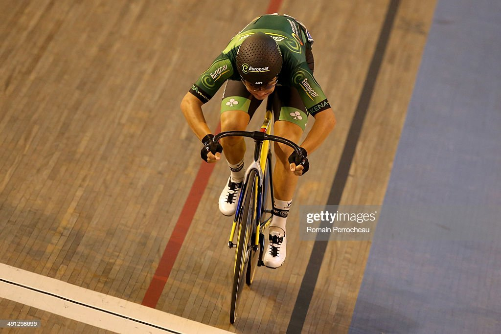 <a gi-track='captionPersonalityLinkClicked' href=/galleries/search?phrase=Bryan+Coquard&family=editorial&specificpeople=8795501 ng-click='$event.stopPropagation()'>Bryan Coquard</a> competes in the Omnium Flying Lap during the French Cycling Championships at the Velodrome of Bordeaux on October 4, 2015 in Bordeaux, France.