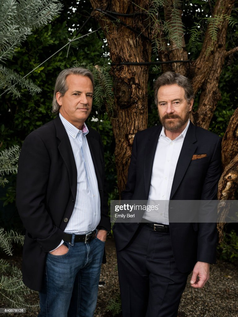 Bryan Cranston and Graham Yost of 'Sneaky Pete' are photographed for The Hollywood Reporter on January 5, 2017 in Los Angeles, California.