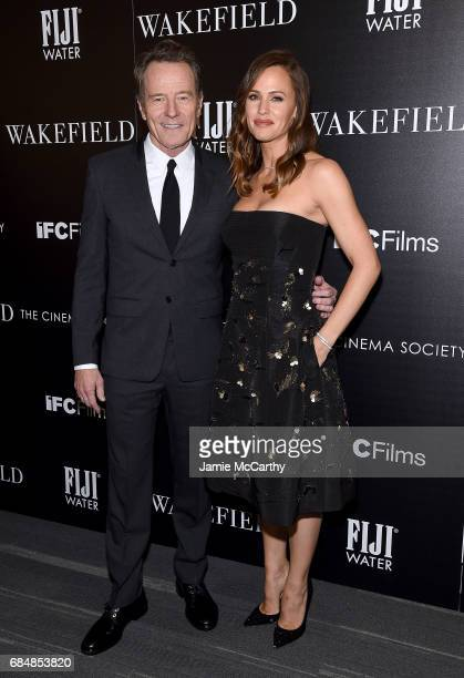 Bryan Cranston and Jennifer Garner attend The Cinema Society Hosts A Screening Of IFC Films' 'Wakefield' at Landmark Sunshine Cinema on May 18 2017...