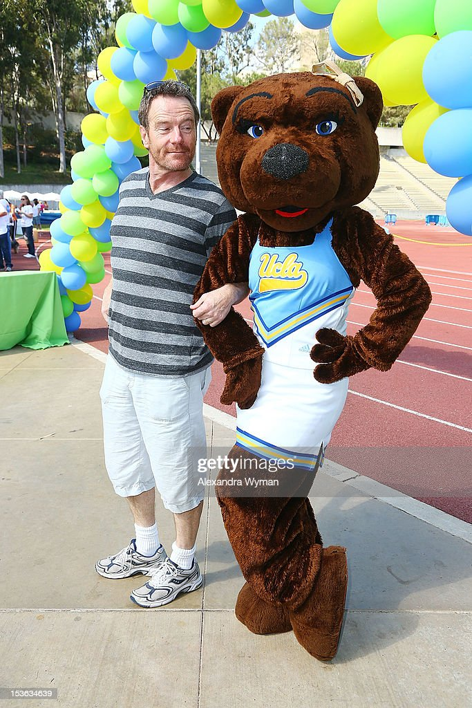 Bryan Cranston and Josie at UCLA's Lymphoma Program 'A Celebration Of Survivorship - On Track For A Cure' held at UCLA's Drake Stadium on October 7, 2012 in Westwood, California.