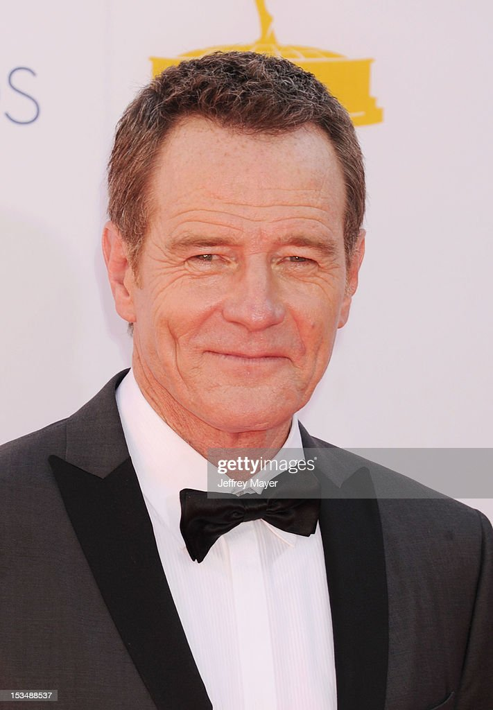 Bryan Cranston arrives at the 64th Primetime Emmy Awards at Nokia Theatre L.A. Live on September 23, 2012 in Los Angeles, California.
