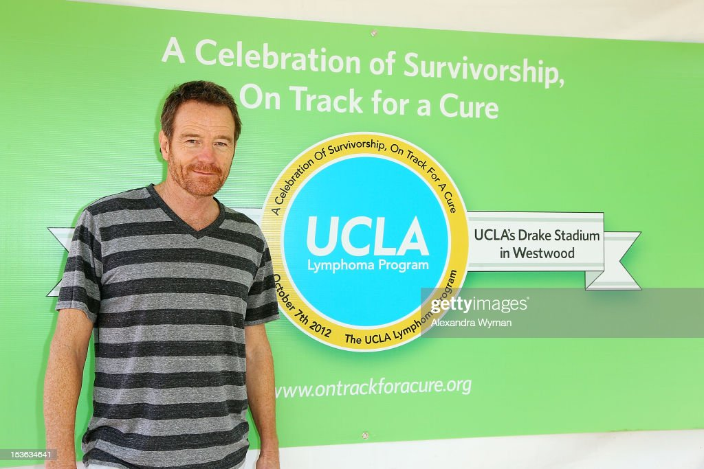 <a gi-track='captionPersonalityLinkClicked' href=/galleries/search?phrase=Bryan+Cranston&family=editorial&specificpeople=217768 ng-click='$event.stopPropagation()'>Bryan Cranston</a> at UCLA's Lymphoma Program 'A Celebration Of Survivorship - On Track For A Cure' held at UCLA's Drake Stadium on October 7, 2012 in Westwood, California.