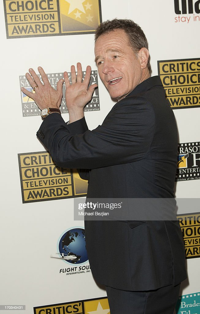 Bryan Cranston attends Critics' Choice Television Awards VIP Lounge on June 10, 2013 in Los Angeles, California.