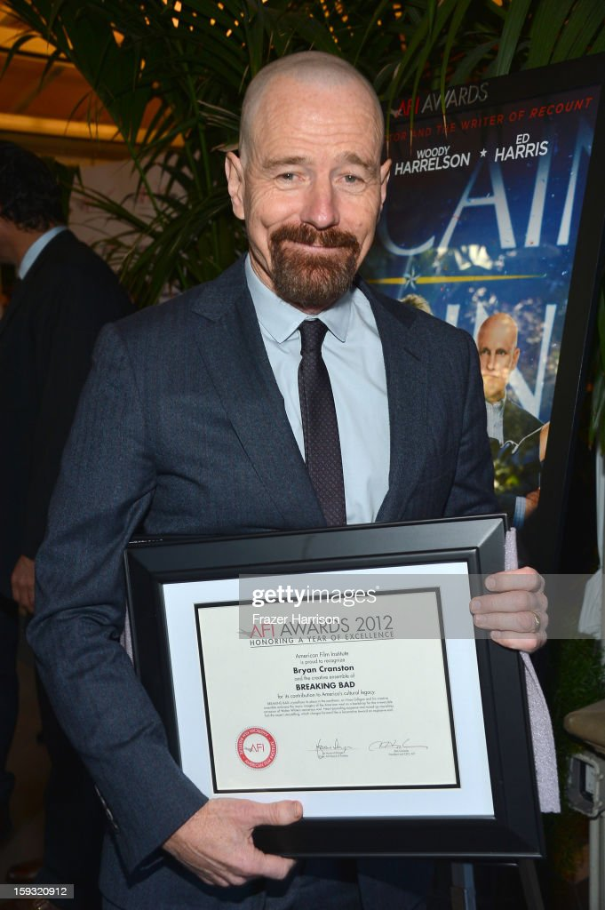 <a gi-track='captionPersonalityLinkClicked' href=/galleries/search?phrase=Bryan+Cranston&family=editorial&specificpeople=217768 ng-click='$event.stopPropagation()'>Bryan Cranston</a> attends the 13th Annual AFI Awards at Four Seasons Los Angeles at Beverly Hills on January 11, 2013 in Beverly Hills, California.