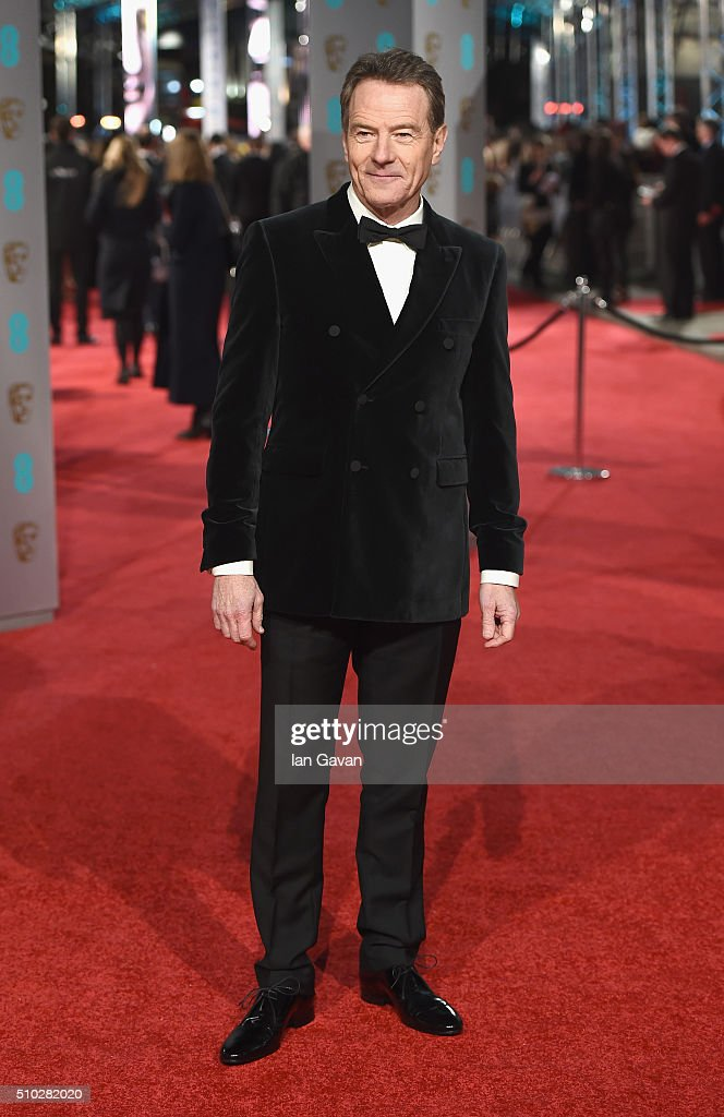 <a gi-track='captionPersonalityLinkClicked' href=/galleries/search?phrase=Bryan+Cranston&family=editorial&specificpeople=217768 ng-click='$event.stopPropagation()'>Bryan Cranston</a> attends the EE British Academy Film Awards at the Royal Opera House on February 14, 2016 in London, England.