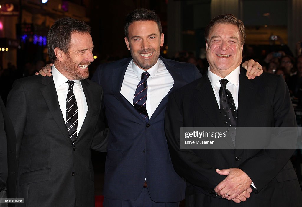 Bryan Cranston, Ben Affleck and John Goodman arrive for the gala film premiere of 'Argo' during the 56th BFI London Film Festival at Odeon Leicester Square on October 17, 2012 in London, England.