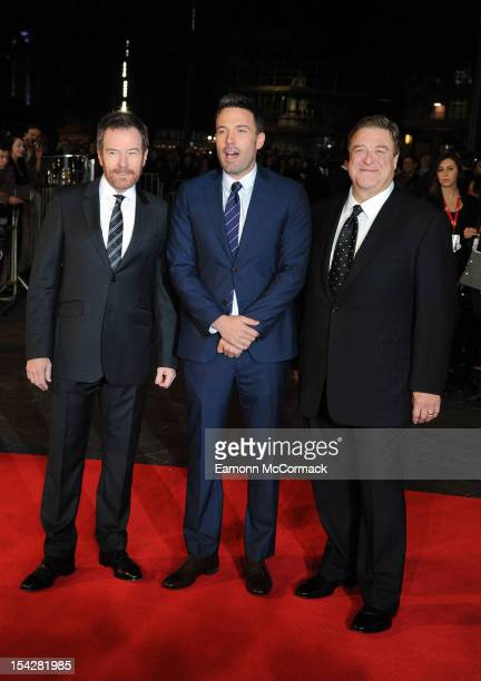 Bryan Cranston Ben Affleck and John Goodman attend the Premiere of 'Argo' during the 56th BFI London Film Festival at Odeon Leicester Square on...